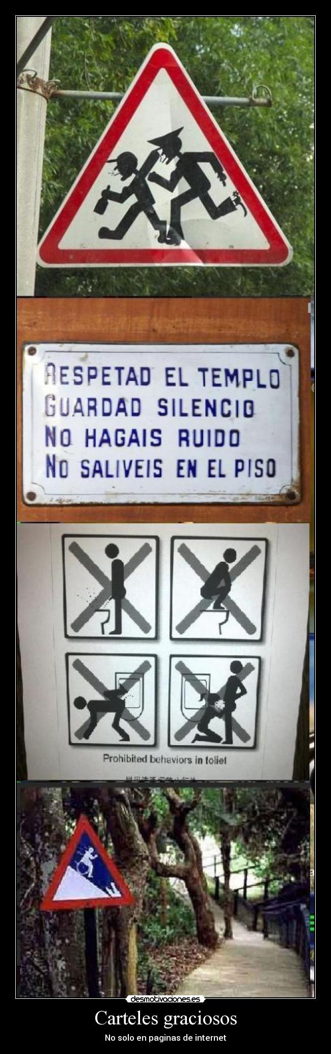 Carteles graciosos - No solo en paginas de internet