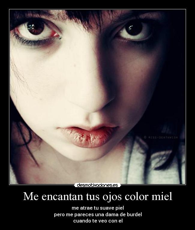 me encantan tus ojos color miel desmotivaciones