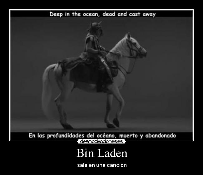 Bin Laden - sale en una cancion