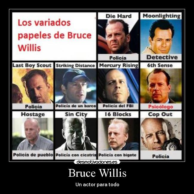 Bruce Willis - Un actor para todo