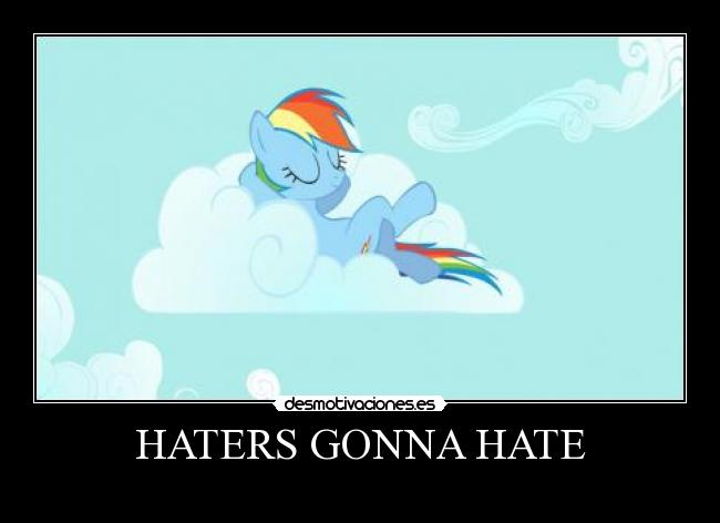 HATERS GONNA HATE -