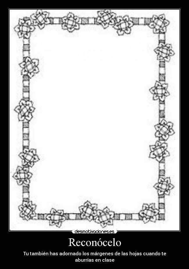 Margenes de dibujos para hojas - Imagui