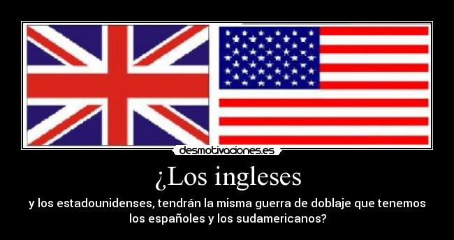 ¿Los ingleses -