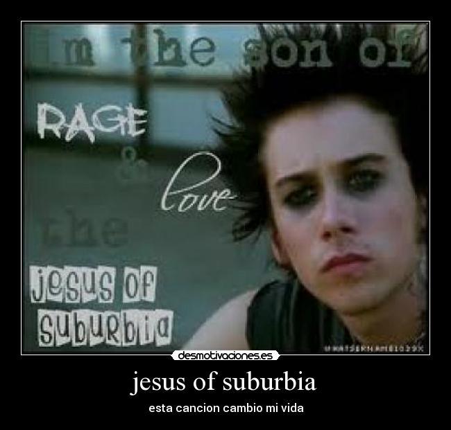 letra cancion jesus of suburbia: