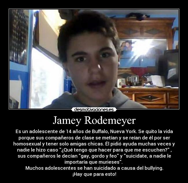 carteles jamey rodemeyer bullying acoso homosexual paws forever project gets better project suicidio desmotivaciones