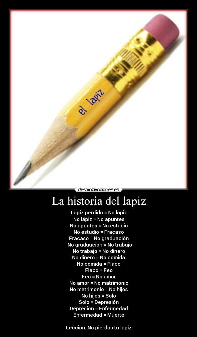 historia del lapiz: