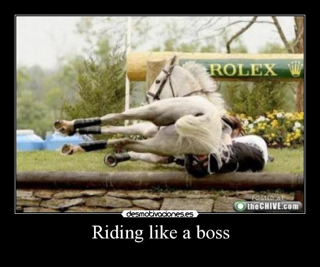Riding like a boss -