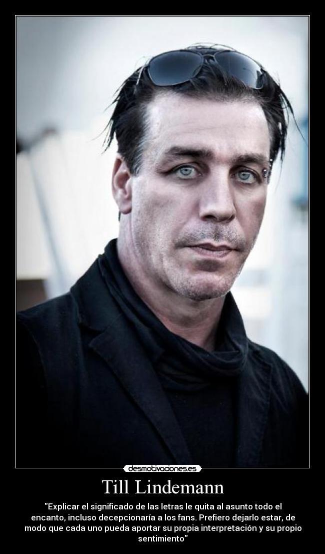 Classify Till Lindemann Anthroscape