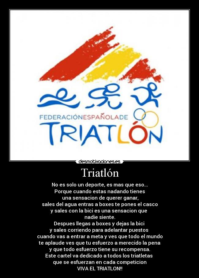 carteles triatlon desmotivaciones