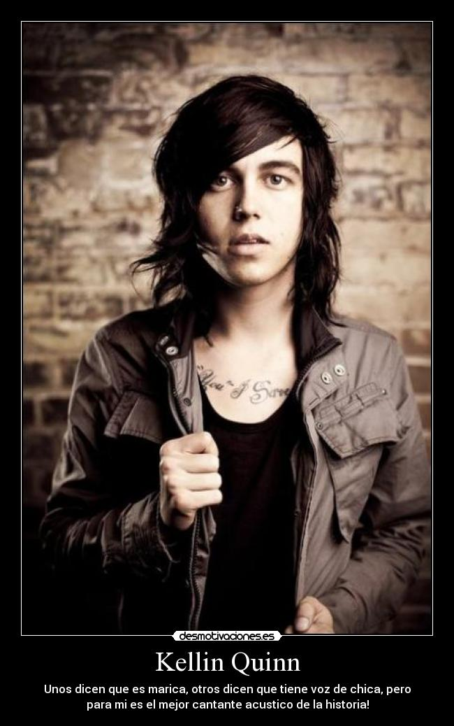 Kellin Quinn carteles Sleeping With Sirens desmotivaciones
