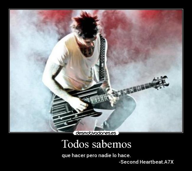 carteles second heartbeat avenged sevenfold syn ewe desmotivaciones