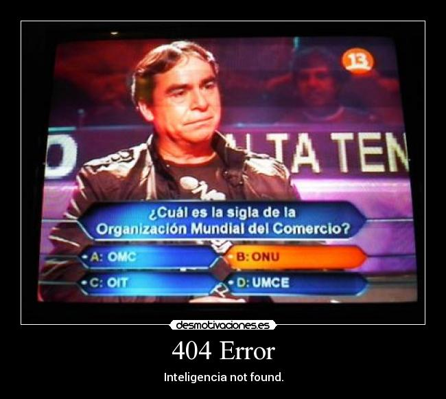 404 Error - Inteligencia not found.