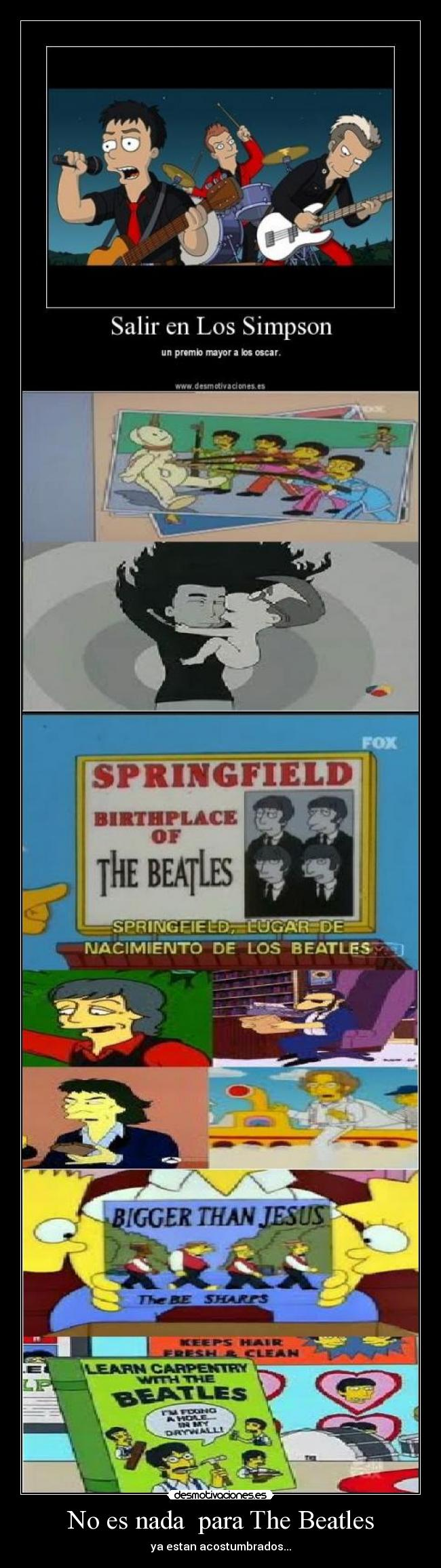 No es nada  para The Beatles - ya estan acostumbrados...