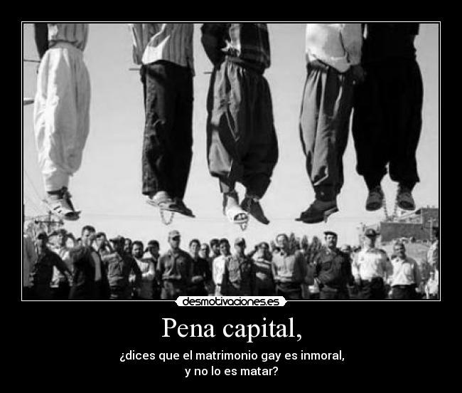 es pena capital: