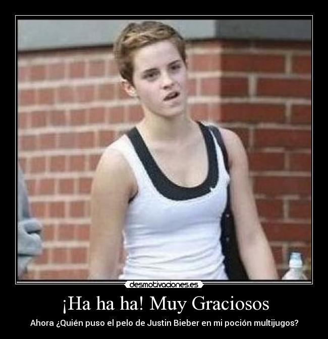 Carteles Emma Watson Justin Bieber Harry Poter Desmotivaciones