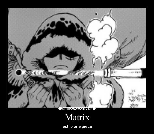 Matrix - estilo one piece