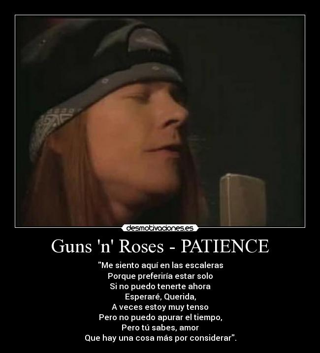 guns and roses songs patience