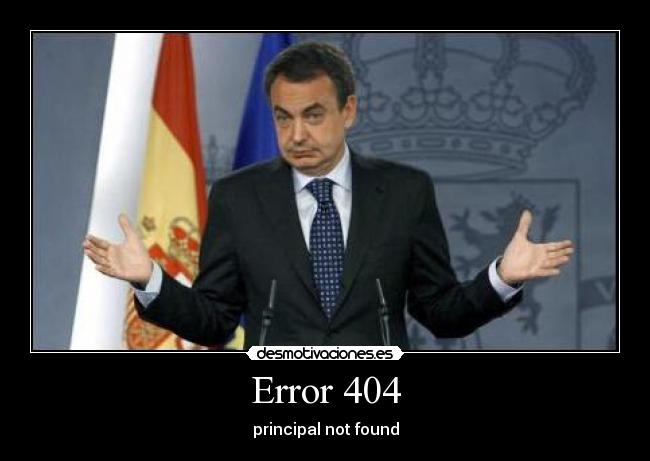 Error 404 - principal not found