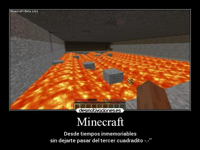 carteles minecraft mine craft xinando desmotivaciones sambo09 lol
