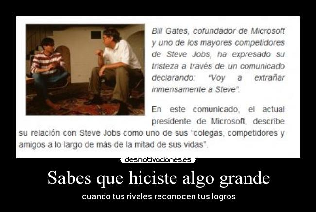carteles steve jobs bill gates rivales apple windows gabranth12 desmotivaciones