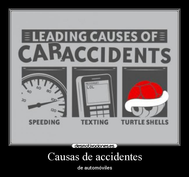 Causas de accidentes - de automóviles