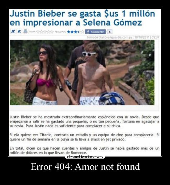 Error 404: Amor not found -