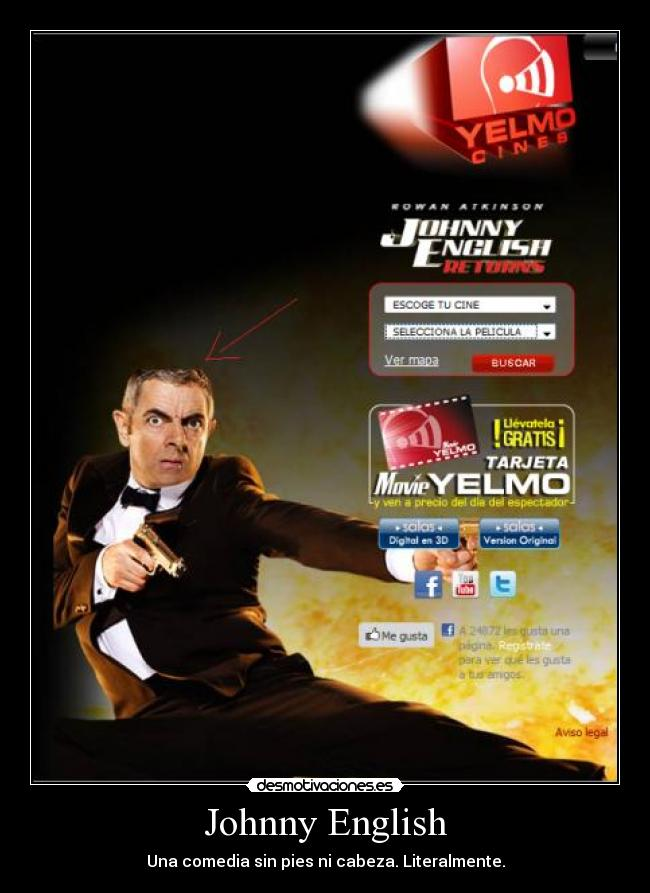 Johnny English - Una comedia sin pies ni cabeza. Literalmente.