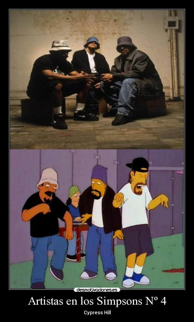 carteles simpsons jodeteyespera simpsons cypress hill desmotivaciones
