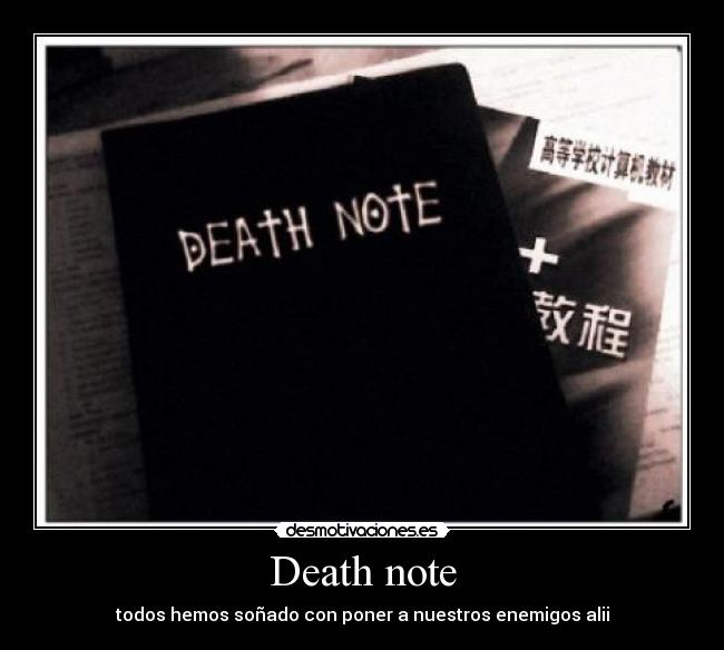 Desmotivaciones Death Note