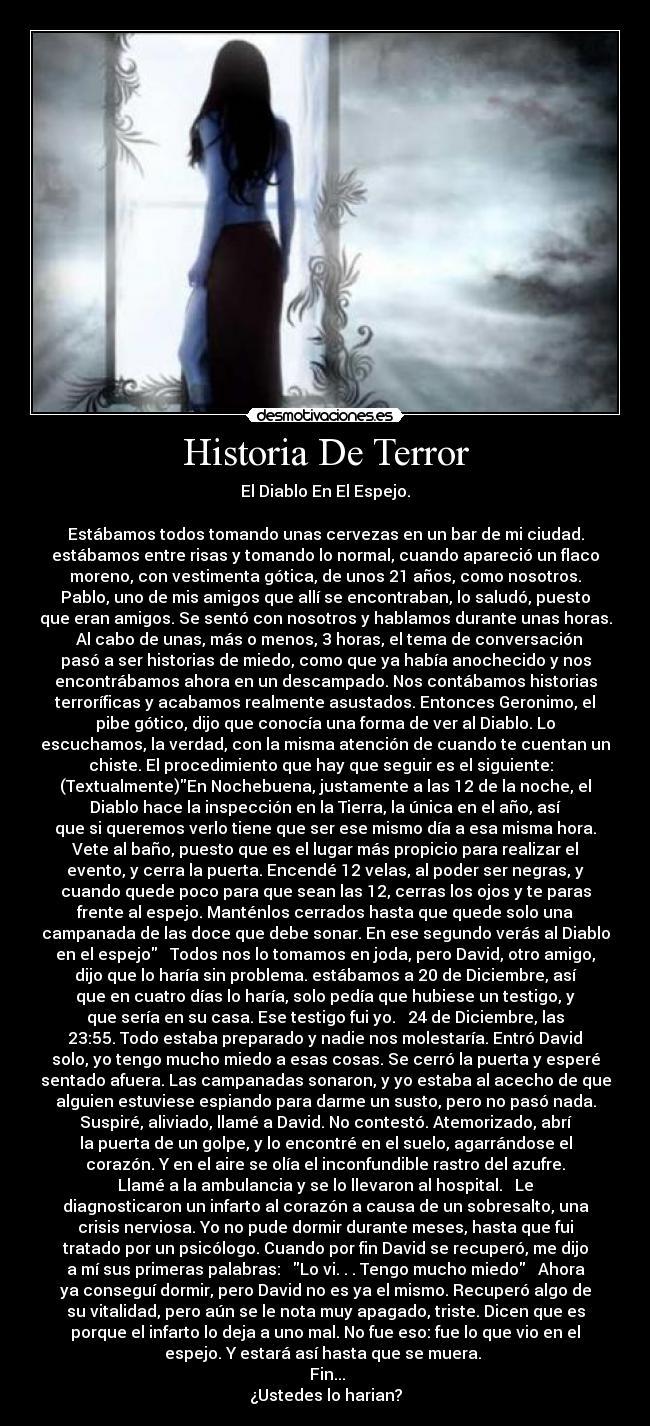 carteles historia historia terror desmotivaciones