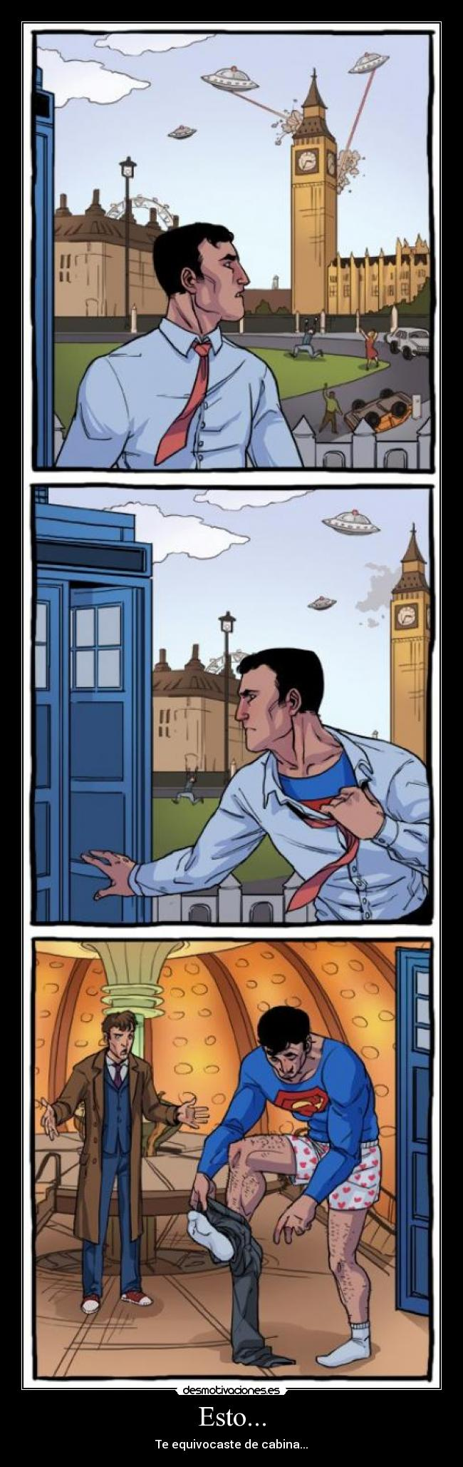 carteles clantimelord timelord semana tennant superman desmotivaciones