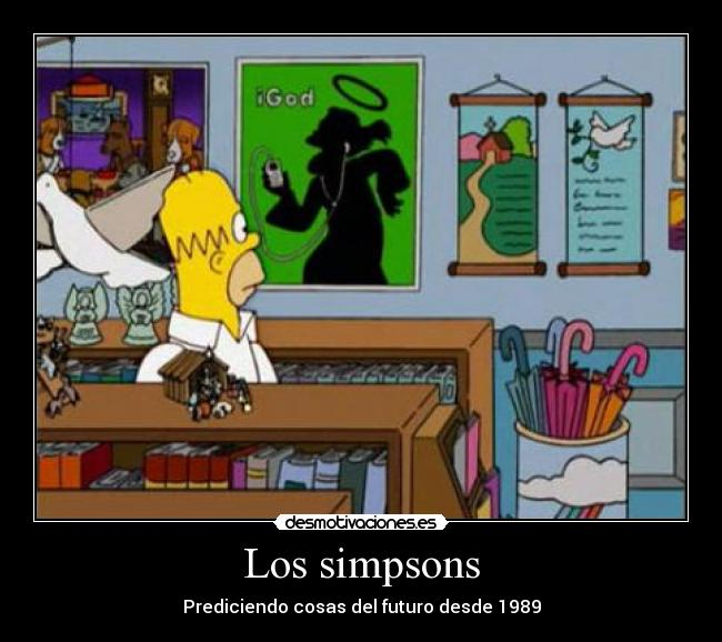 carteles simpsons igod apple simpsons futuro desmotivaciones