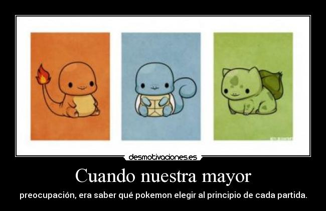 carteles pokemon bulbasaur squirtle charmander eleccion desmotivaciones