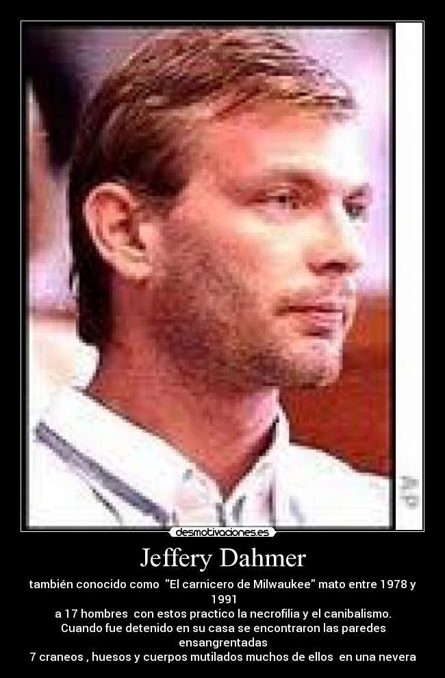 Dahmer el carnicero de milwaukee online dating