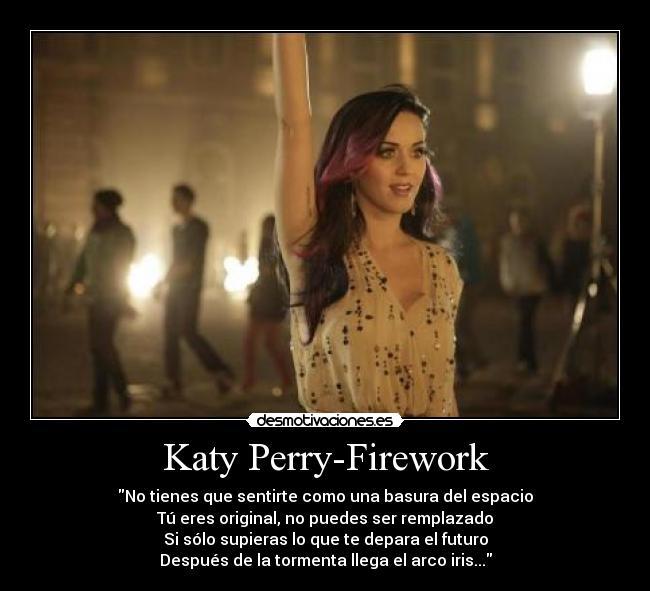 Katy Perry Firework Desmotivaciones