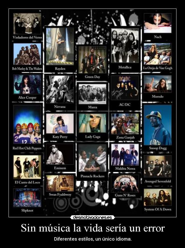 carteles musica vida megacartel music hidan23 rap reggae rock metal punk pop desmotivaciones
