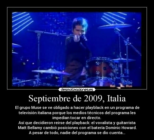 carteles muse matt bellamy dominic howard italia desmotivaciones