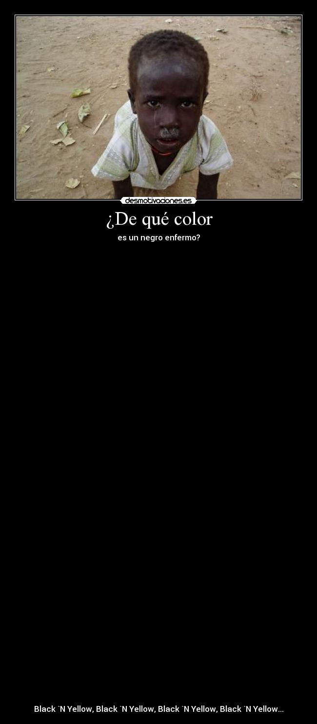 ¿De qué color -