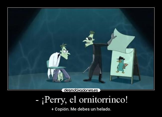 Dibujo de Perry el ornitorrinco de Phineas y Ferb para