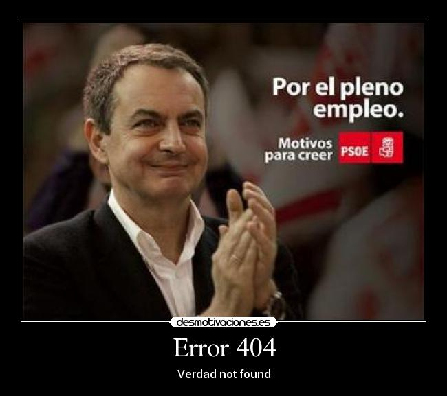 Error 404 - Verdad not found