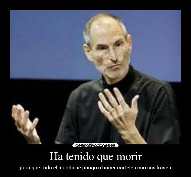 carteles steve jobs apple desmotivaciones