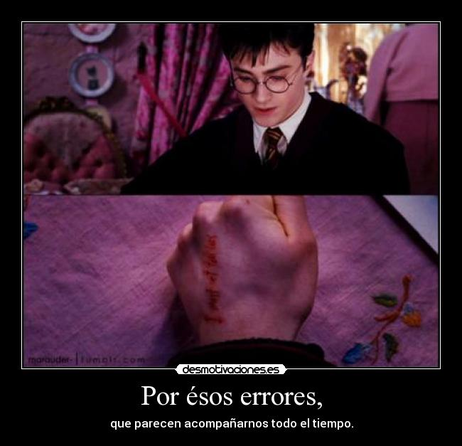 carteles errores harry potter umbridge desmotivaciones