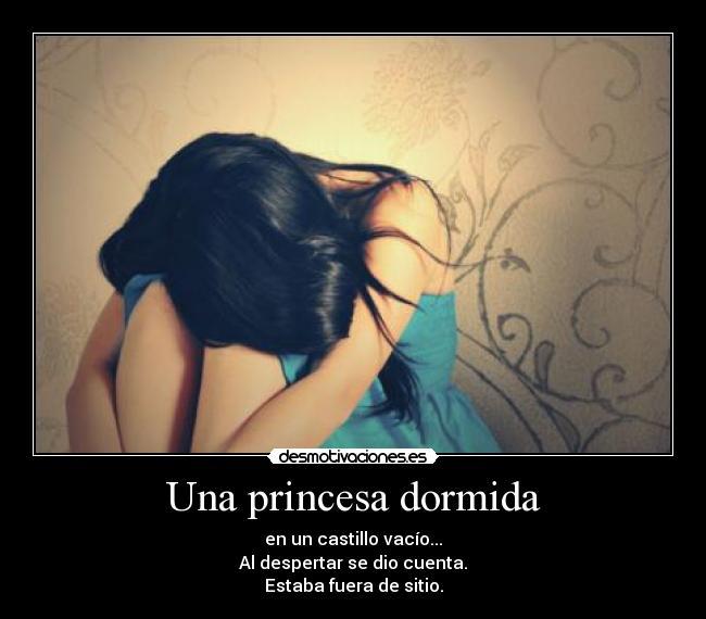 Una princesa dormida - desmotivaciones.