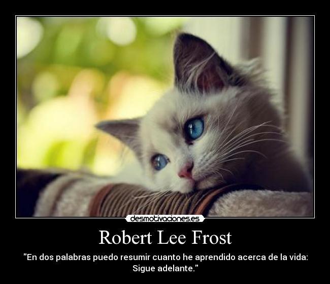 Robert Lee Frost Desmotivaciones