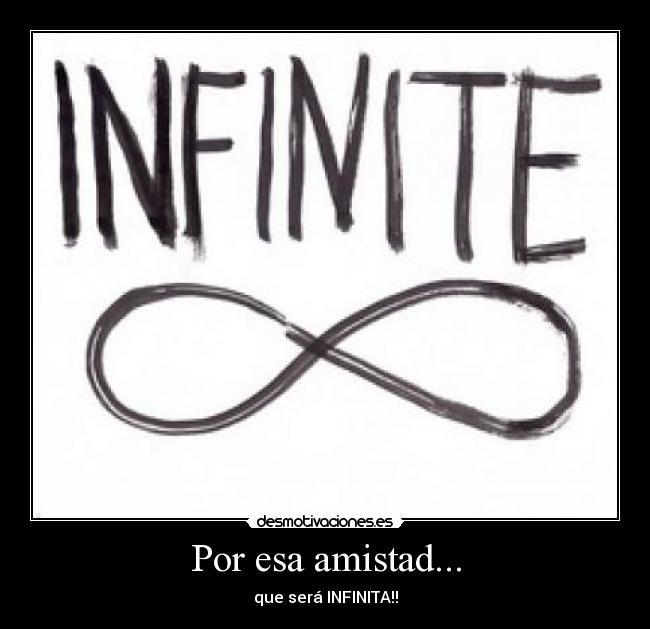 Imagenes infinito amistad - Imagui