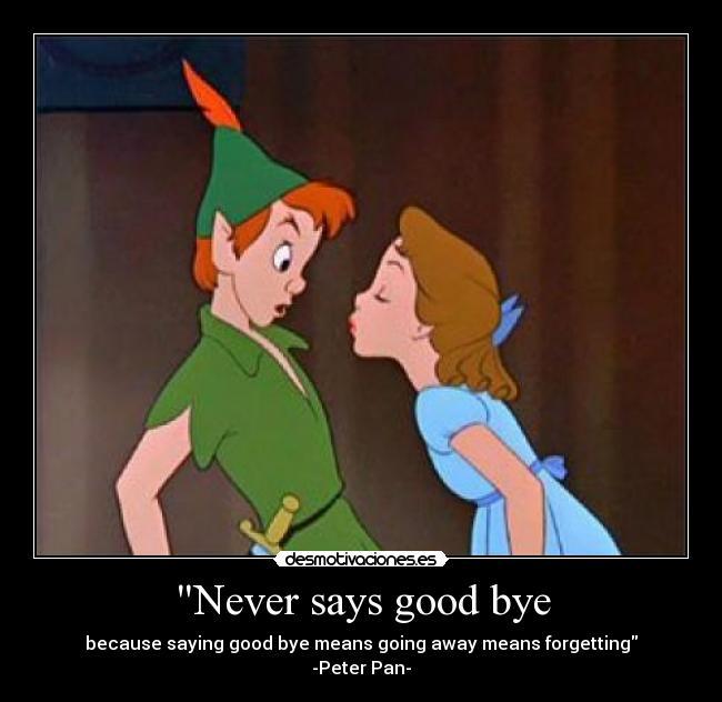 Never Says Good Bye Desmotivaciones