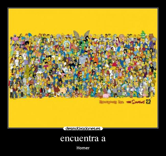 encuentra a - Homer