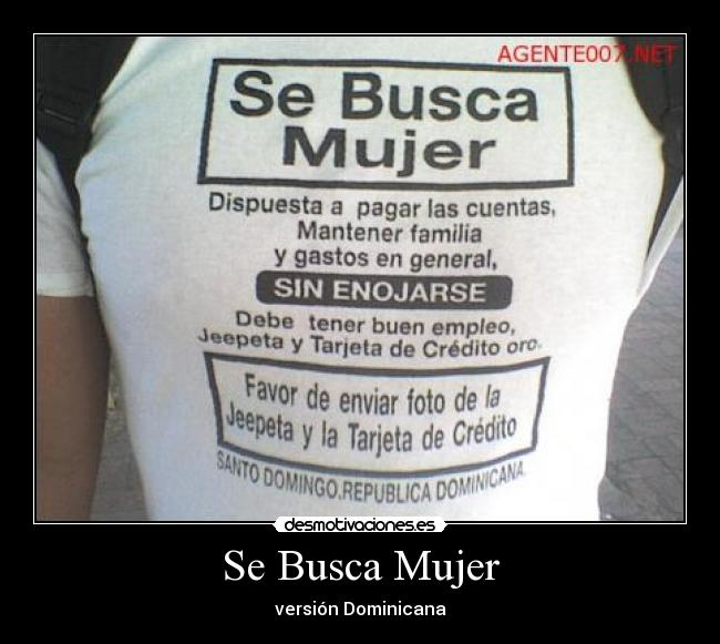 se busca mujer