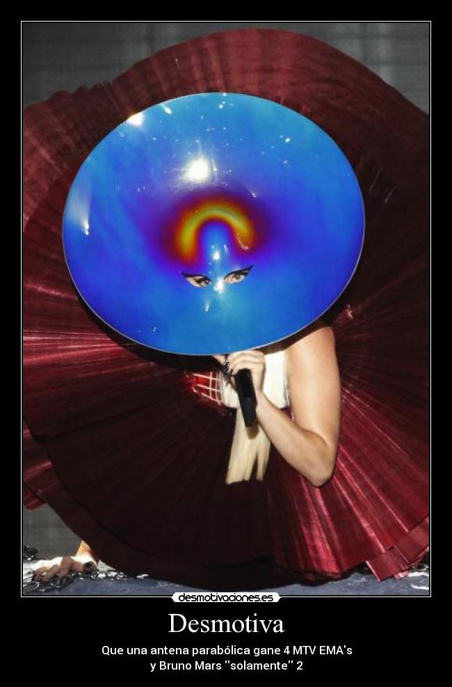 carteles bruno mars lady gaga hooligan little monster musica mtv ema desmotivaciones