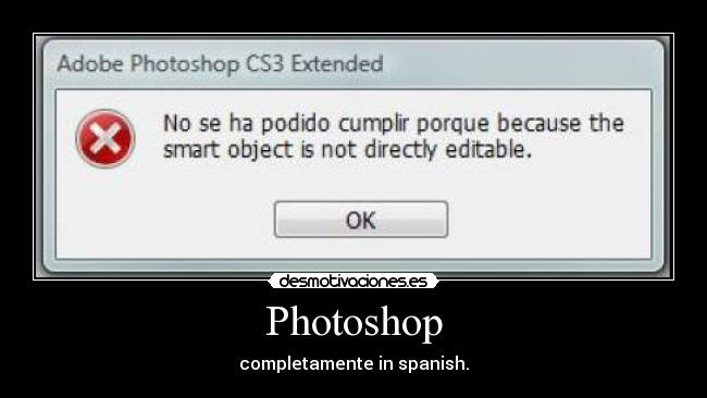 Photoshop - completamente in spanish.